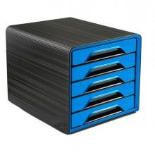 83474 - Cassettiera 5 Cassetti Standard Nero/Blu Oceano 7-111 Smoove Cep -