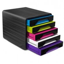 83475 - Cassettiera 5 Cassetti Standard Nero/Multicolori 7-111 Smoove Cep -