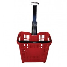 83515 - Cesto Trolley Antiurto 30Lt Rosso Printex -