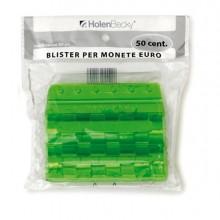 83537 - Blister 20 Portamonete In Pvc 50Cent Verde -