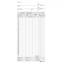 83877 - 100 Schede Orologio Mensili 22x10 Azzurro E3866Bl -