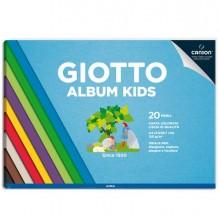 86056 - Album Kids Carta colorata 2+ f.to A4 120gr 30fg Giotto - CONF. 5 pz -