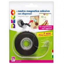 Nastro Adesivo Magnetico 19mm x 7Mt Con Dispenser Cwr