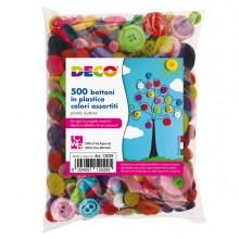 Confezione 650 Bottoni In Plastica Colori Assortiti Cwr