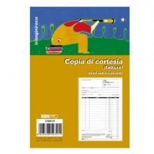 86516 - Blocco copia di cortesia (fatt.elett.) 33x3 autocop. 22x14.8cm E5272CT Edipro - CONF. 10 pz -