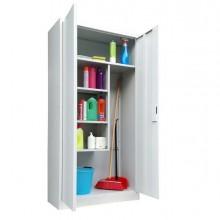 86653 - Armadio Porta Scope In Metallo A 2 Ante Battenti 90x40xh181,5Cm grigio Kub8 -