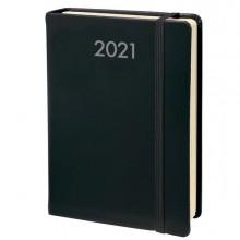 88280 - Agenda giornaliera Quo Vadis Daily Pocket Prestige 8 5x13cm Habana nero 2021 -