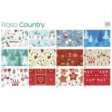 88313 - Scatola 100fg carta regalo Raso Country Natale 70X100cm SADOCH -