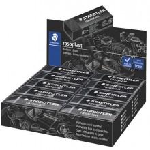 88894 - Box 20 gomme Rasoplast 526 B20-9 dim.63x13x23mm nera per matita Staedtler -