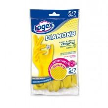 88972 - Guanti in lattice DIAMOND tg. S Giallo -