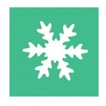 Fustella con motivo Fiocco di neve dim. 25mm CWR