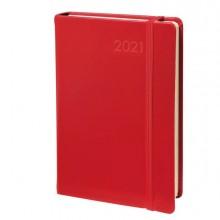 89074 - Agenda giornaliera Daily 21 Prestige 13x21cm Habana rosso 2021 Quo Vadis -