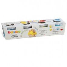 89158 - 4 vasetti 100gr pasta soffice Easy Do' colori assortiti Primo -