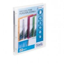 Racc. personalizzabile Lumina 22X30 4 anelli tondi D15 PP trasparente Favorit