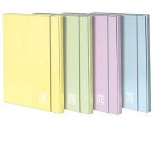 89453 - Cartella 3 lembi con elast. dorso 1cm colori assortiti Pastel One Color Blasetti - CONF. 6 -