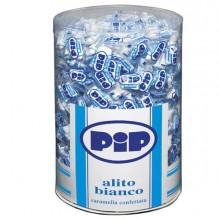 89681 - Caramelle confettate Pip Alito bianco barattolo 800 pz -