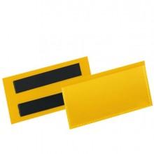 90106 - 50 buste identificazione magnetiche 100x38mm art.1741 Giallo DURABLE -