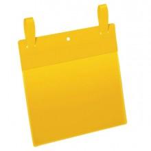90111 - 50 buste identificazione con fascette 210x148mm(A5-ORIZ.)art.1749Giallo DURABLE -
