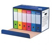 90125 - Conf 6 Registratori OXFORD G85 color MIX dorso 8 cm f.to protocollo ESSELTE -