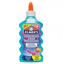 90300 - Flacone 177 ml Colla Glitterata BLU Liquida Slime Elmer's Newell - CONF.3 pz -
