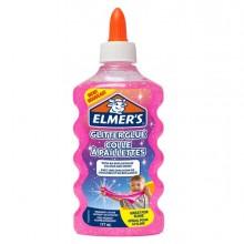 90301 - Flacone 177 ml Colla Glitterata ROSA Liquida Slime Elmer's Newell - CONF.3 pz -