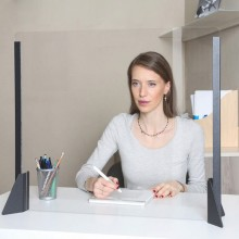 Schermo protettivo da scrivania H56xL66cm in acrilico nero
