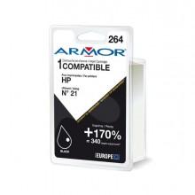 ARMH21 - Cartuccia Nera Per Hp N21 Psc 1410, 1415, Deskjet F380, D1360 Doppia Capacita -