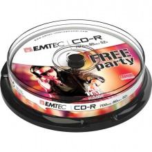 EMTC801052CB - Cd-R Emtec 80Min/700Mb 52x Spindle (Kit 10Pz) -