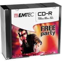 EMTC801052SL - Cd-R Emtec 80Min/700Mb 52x Slim Case (Kit 10Pz) -