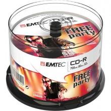 EMTC805052CB - Cd-R Emtec 80Min/700Mb 52x Spindle (50Pz) -