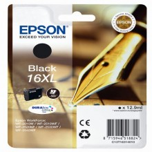 EPST16314012 - Cartuccia A Pigmenti Nero Epson Durabrite Ultra, Serie 16xl/Penna E Cruciverba, -