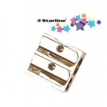 STL2305 - Blister 1 Temperamatite 2 Fori In Metallo Starline -