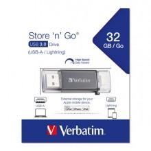 VERB49300 - Istore 'N' Go Usb 3.0/Lightning Drive 32Gb -