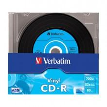 VERBCDR70052C - Scatola 10 Cd-R Datalifeplus Data Vinyl Slim 1x-52x 700 Mb Azo Colour -