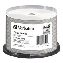 VERBCDR70052WI - Scatola 50 Cd-R Bulk Datalifeplus Spind. 1x-52x 700Mb Stamp.Wide Inkjet Photo -