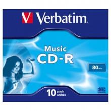 VERBCDRA80STK - Scatola 10 Cd-R Music Live It 80Min. Serigrafato Colorato -