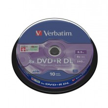 VERBDVD+R858XS - Scatola 10 Dvd+R Dual Layer 8x 8.5Gb 240Min. Serigrafato Spindle -