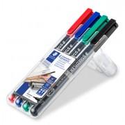 Fineliner - Busta 4 Pennarelli Lumocolor Permanent 313 Sf 0.4mm -