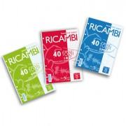 Ricambi forati - Ricambi Forati A4 5mm Quaxima 40fg 80gr Pigna -