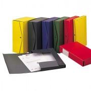 Scatole archivio con bottone - Scatola Project 4 Verde 25X35Cm, Dorso 4Cm 00023314 - CONF.5 -