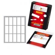 Etichette in foglietti - Etichetta Adesiva Bianca 46X20Mm (10Fogli X 15Etichette) Markin 10033 - CONF.25 -