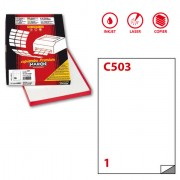 Etichette carta copy-laser-inkjet - Etichetta adesiva C/503 bianca 100fg A4 210x297mm (1et/fg) Markin -