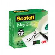 Nastri adesivi - Nastro Adesivo Scotch Magic 810-1933 Invisibile Perm. 19mm x 33Mt -