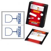 Buste sovracollo - etichette prestampate - Etichetta Adesiva Bianca 10fg x 2 Etichette 115x70mm Fragile Markin -