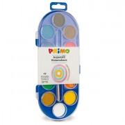 Acquerelli - colori a dita - Pastiglie Acquerello In 12 Colori diam. 30mm Primo -