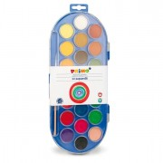 Acquerelli - colori a dita - Pastiglie Acquerello In 22 Colori diam. 30mm Primo -