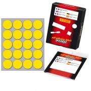 Etichette in foglietti - Etichetta Adesiva Giallo Tonda diam.27mm (10Fogli x 20Etichette) Markin -