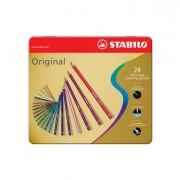 Pastelli colorati - Astuccio Metallo 24 Pastelli Stabilo Original 8774 -