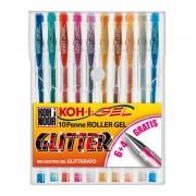 Oro - argento - glitter - Astuccio 10 Roller Koh-I-Gel Glitter -