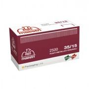 Aggraffatrici e accessori - Scatola Da 2500 Punti 35/15 15mm Rame Ro-Ma x Romabox -
